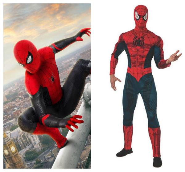 traje do homem aranha