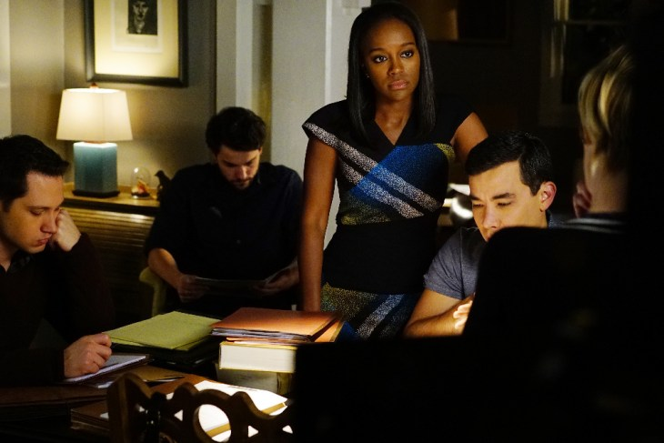 "HOW TO GET AWAY WITH MURDER - ""He Made A Terrible Mistake"" - Annalise tries to ward off a surprising new angle in the D.A.'s case. Meanwhile, alliances shift amongst the Keating 4, as they discover crucial information about the circumstances surrounding Wes's death. The two-hour season finale of ""How to Get Away with Murder"" will air on THURSDAY, FEBRUARY 23 (9:01-11:00 p.m. EST) on the ABC Television Network. (ABC/Richard Cartwright)"