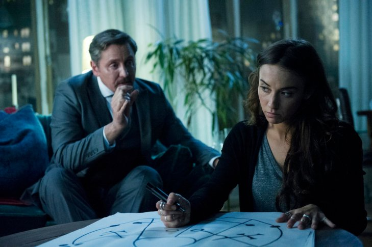 """THE MAGICIANS -- """"Hotel Spa Potions"""" Episode 202 -- Pictured: (l-r) Charles Mesure as The Beast, Stella Maeve as Julia -- (Photo by: Carole Segal/Syfy)"""