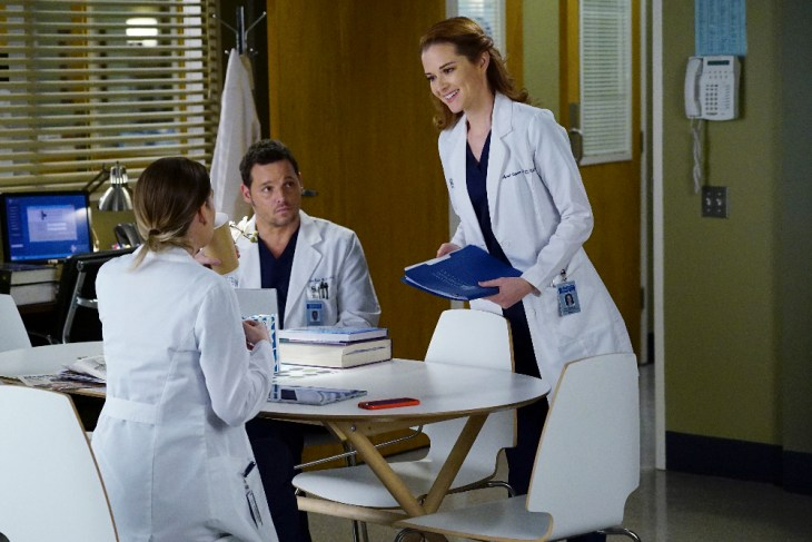 "GREY'S ANATOMY - ""Civil War"" - Richard, Jackson, April and Catherine tackle a grueling trauma case intensified by hospital politics. Amelia finally faces her feelings about Owen, and Meredith gets caught between Nathan and Alex over a patient, on ""Grey's Anatomy,"" THURSDAY, MARCH 9 (8:00-9:01 p.m. EST), on the ABC Television Network. (ABC/Richard Cartwright)"