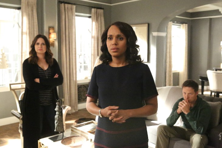 "SCANDAL - ""Trojan Horse"" - Olivia and the team are determined to bring down Peus, but as the Electoral College vote nears, the fight for power claims another victim, on ""Scandal,"" airing THURSDAY, APRIL 20 (9:01-10:00 p.m. EDT), on The ABC Television Network. (ABC/Mitch Haaseth)"