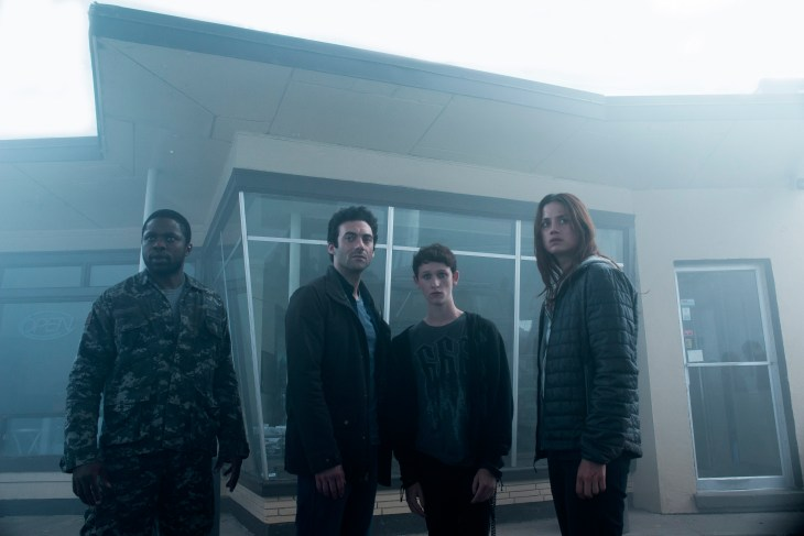 From l to r: Bryan Hunt (Okezie Morro), Kevin Copeland (Morgan Spector), Adrian Garf (Russell Posner) and Mia Lambert (Danica Curcic) band together when a foreboding mist arrives in one small town ushering in a terrifying new reality for its residents, putting their humanity to the test. Based on a story by Stephen King, Spike TV's orginal scripted series THE MIST premieres on Thursday, June 22 at 10 PM, ET/PT.