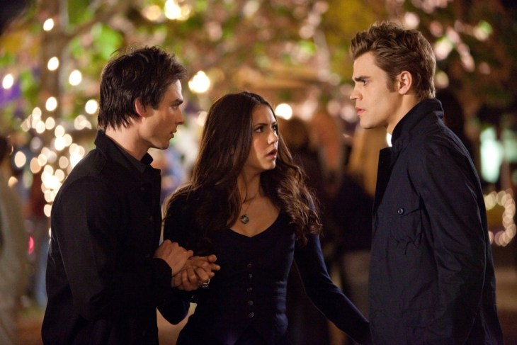 """Founder's Day"" Pictured: Ian Somerhalder as Damon, Nina Dobrev as Elena, Paul Wesley as Stefan Photo Credit: Bob Mahoney / The CW © 2010 The CW Network, LLC. All Rights Reserved."