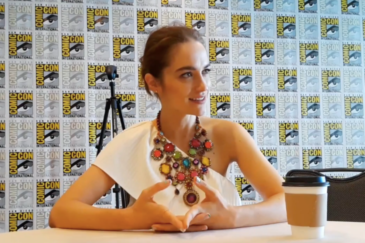 Melanie Scrofano of Wynonna Earp at San Diego Comic-Con