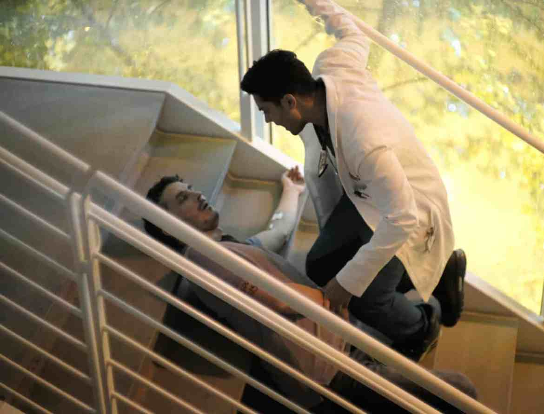 The Resident Season 2 Episode 1 - Tate Ellington and Manish Dayal as Devon Pravesh