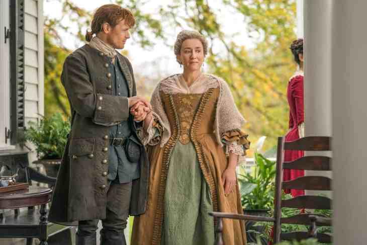 Sam Heughan (Jamie Fraser), Maria Doyle Kennedy (Aunt Jocasta) - Outlander Episode 402