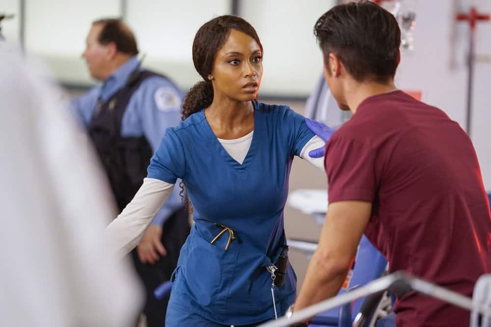 Chicago Med Season 4 Episode 7 - Yaya DaCosta as April Sexton, Brian Tee as Dr. Ethan Choi