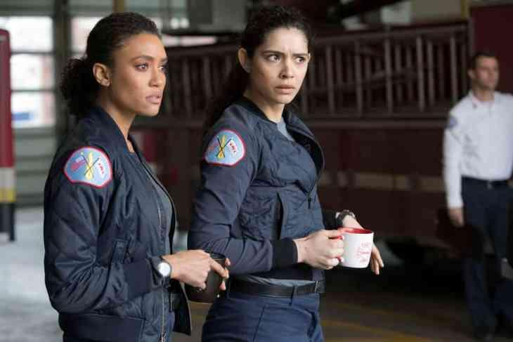 Chicago Fire Season 7 Episode 22 - Annie Ilonzeh as Emily Foster, Miranda Rae Mayo as Stella Kidd