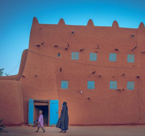 Beautiful Adobe buildings of Agadez