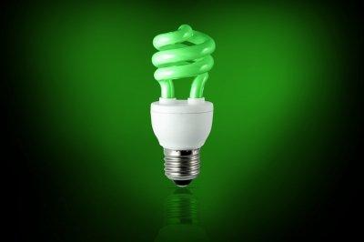 Green Flourescent Light Bulb