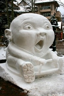 Screaming Baby Takes Telluride's Cool Sculpt Title