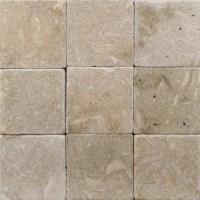 4x4 Seagrass Tumbled Limestone Tile