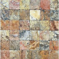 6x6 Scabos Tumbled Travertine Tiles