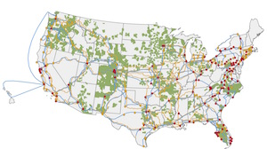 Less fiber compeion looms as CenturyLink buys Level 3 ... on centurylink fiber map, at&t cable route map, internet backbone map, cable coverage map, centurylink high speed map, qwest fiber optic internet,