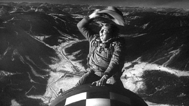 Slim pickens rides the bomb