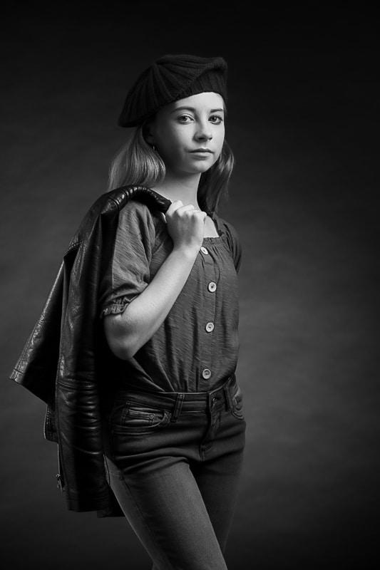portrait studi noir et blanc la garde toulon ollioules