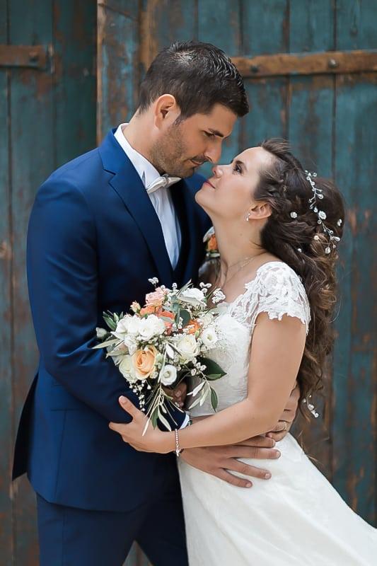 portrait de mariés dans le var