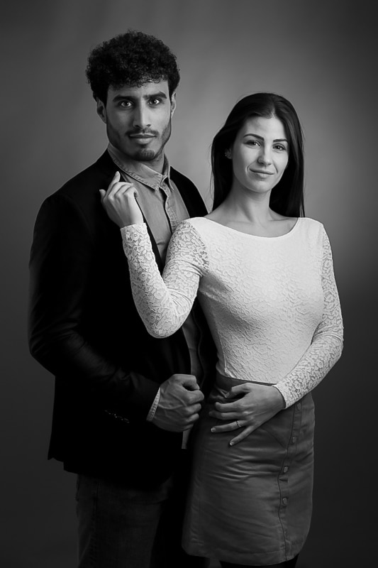 Photographe Portraitiste séance couple en studio a toulon