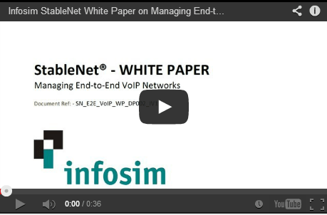 Infosim StableNet Managing End-to-End VoIP Networks