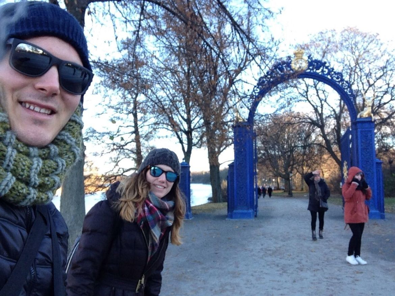 Estocolmo en 4 días: Puerta azul, en Djurgarden