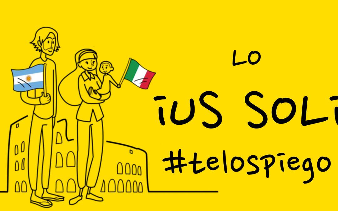 Cos'è lo IUS SOLI? #TELOSPIEGO!