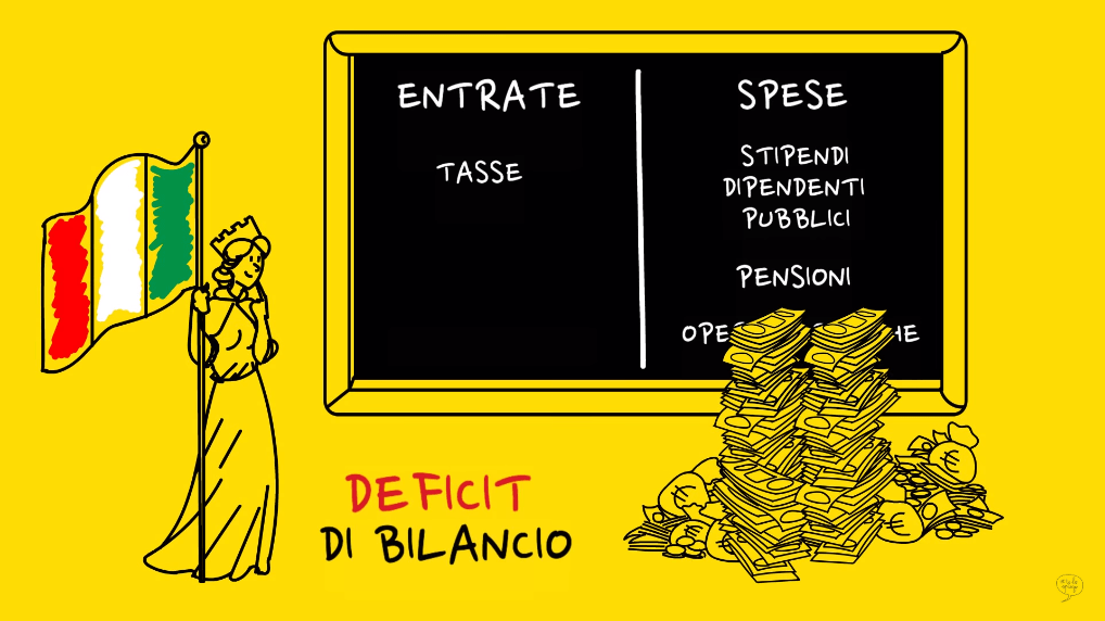 deficit di bilancio spese superiori a tasse mancano dei soldi italia