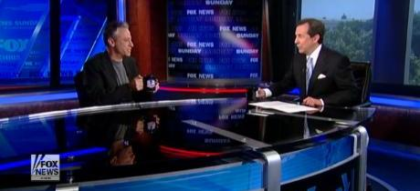 """Jon Stewart in the """"Belly of the Beast"""" with Chris Wallace (Must Watch)"""