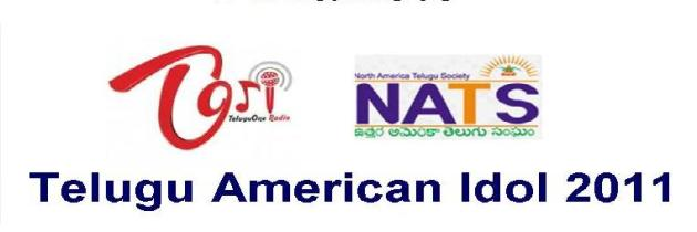 "NATS-TORI's ""Telugu American Idol"" Singing competition – Finalists List"