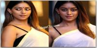 Anu Emmanuel White Saree Photos