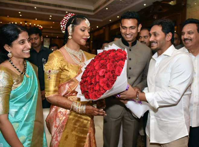 Chandana Deepthi with Jagan