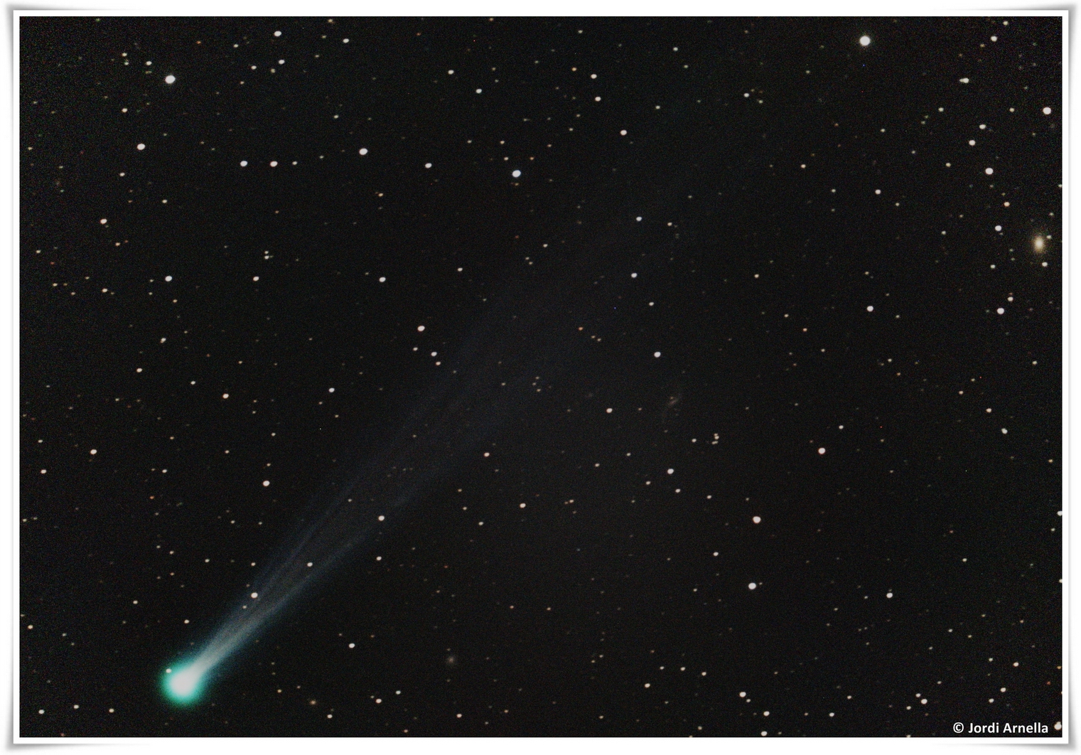 El cometa ISON fotografiat des del Pla de Martís, per Jordi Arnella