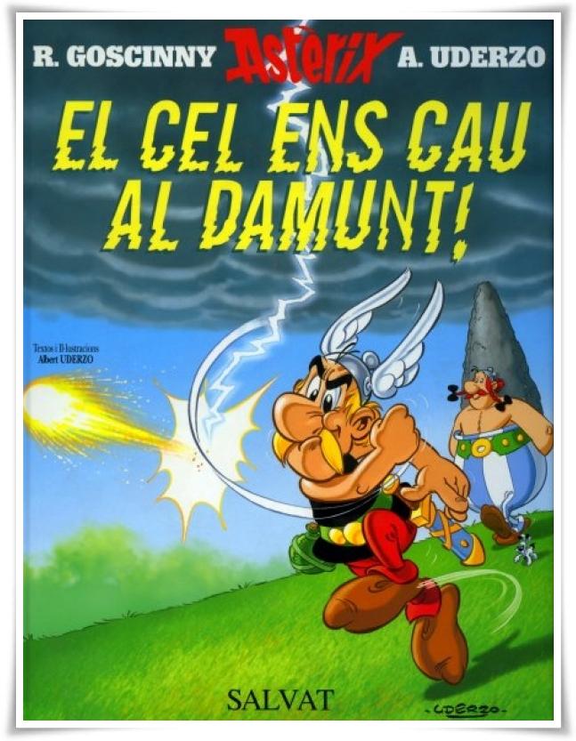 Asterix lluita amb els meteorits...