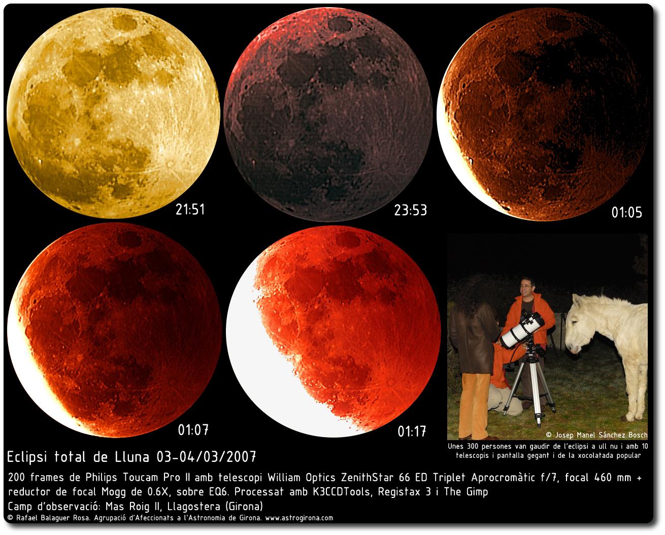 Eclipsi total de Lluna durant la nit del 3 al 4 de març de 2007