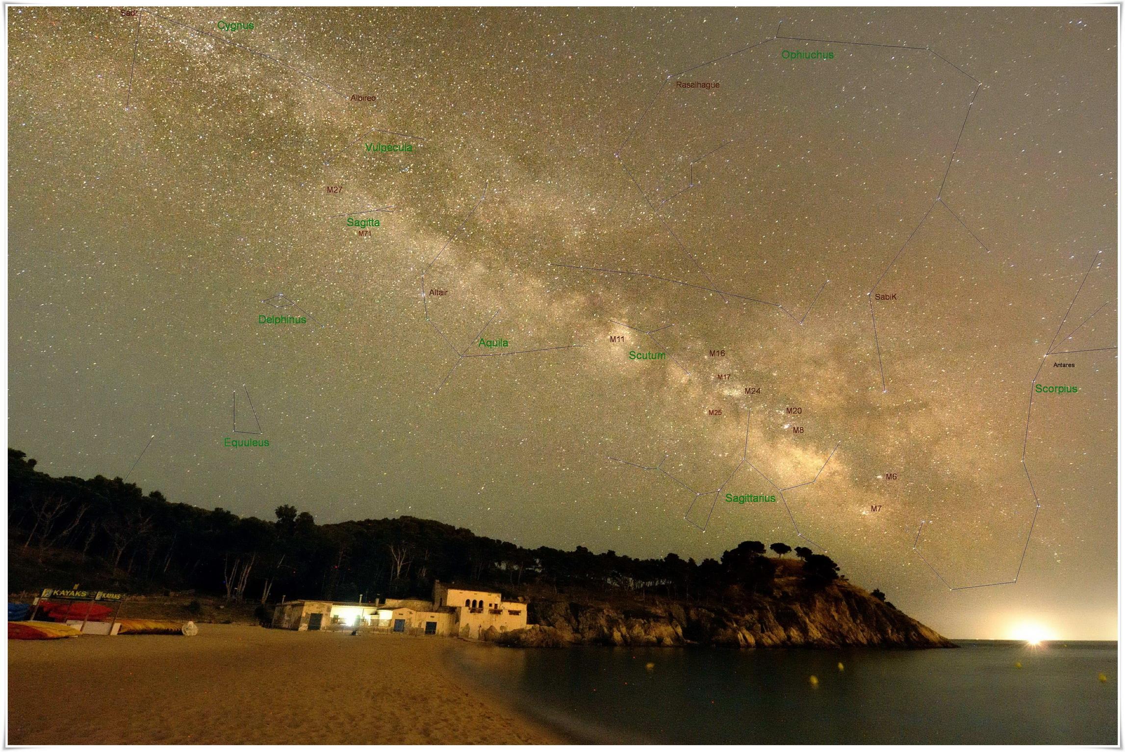 La Via Làctia. Fotografia de Josep Maria Petit Prats