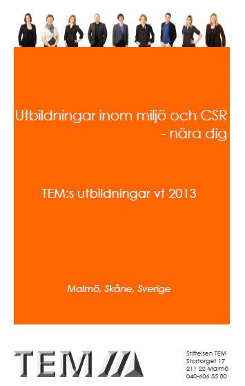 TEMs utbildningskatalog vt 2013