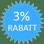 3% Rabatt bis Ende 2020