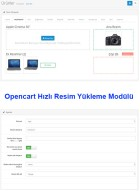 Opencart Hızlı Resim Yükleme Mod
