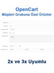 Opencart Müşteri Grubuna Özel Ürünler
