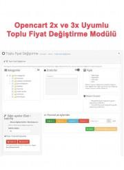 Opencart Toplu Fiyat Değiştirme Modülü