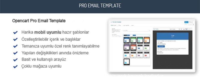 Opencart Pro Email Template