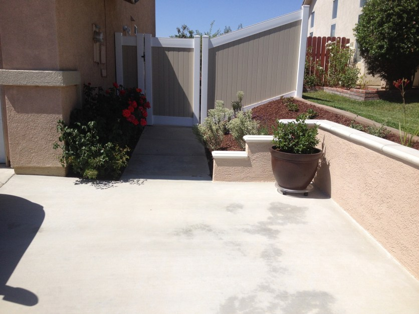 Driveway extension with retaining wall in Temecula McCabe's Landscape Construction