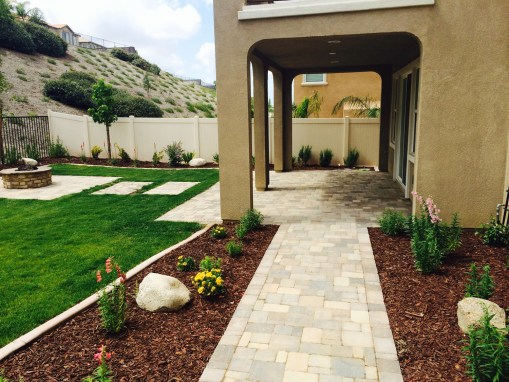 Pavers and grass in Temecula McCabe's Landscape Construction