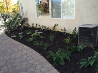 Pavers and shade garden in Murrieta McCabe's Landscape Construction