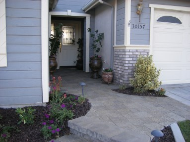 Paver walkway to front in Murrieta McCabe's Landscape Construction