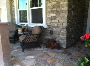 Flagstone front porch in Temecula McCabe's Landscape Construction
