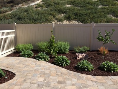 Pavers with low water plantings in Winchester McCabe's Landscape Construction