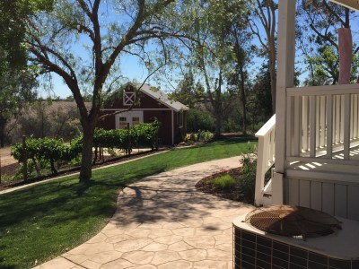 Vineyard barn landscape design in Wine Country Temecula McCabe's Landscape Construction