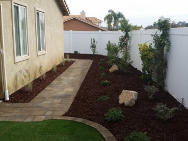 Paver pathway and edging