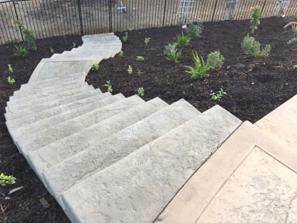 Concrete stairs on a slope