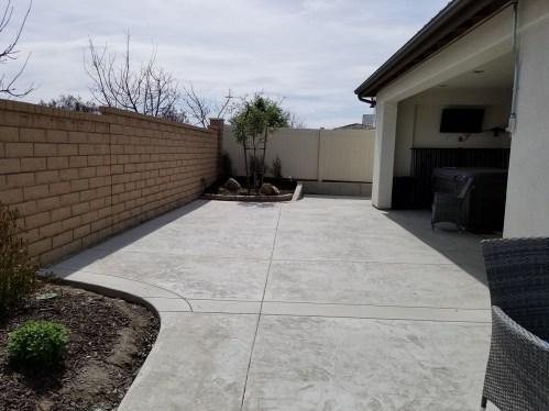 Concrete patio extension